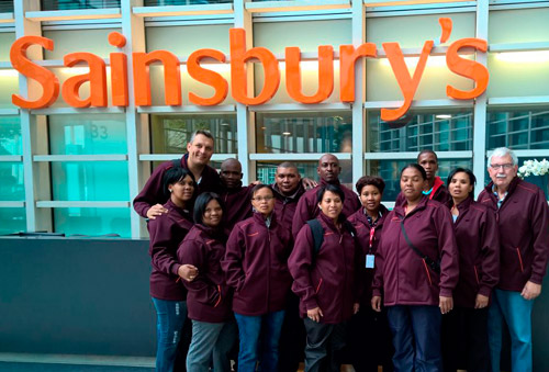 Top of the Class group winners' visit to Sainsbury's in the UK